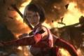 Картинка взгляд, девушка, взрыв, осколки, игра, Tekken 6, Anna Williams