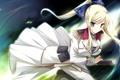 Картинка взгляд, девушка, оружие, магия, меч, art, kimishima ao