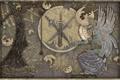 Картинка девушка, оружие, планеты, картина, арт, профиль, фреска