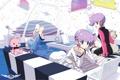 Картинка интерьер, двое, близнецы, dj max, аниме-девушка