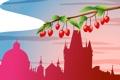 Картинка город, ягоды, путешествия, башня, Чехия, туризм, страна
