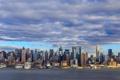 Картинка город, панорама, Manhattan, New Jersey, Weehawken, Нamilton Park