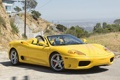 Картинка желтый, Ferrari, Феррари, 360, передок, Spider, спайдер