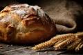 Картинка пшеница, белый, круглый, зерна, хлеб, колосья