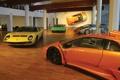 Картинка Lamborghini, музей, автомобилей, Diablo, Miura, Countach