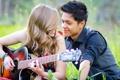 Картинка девушка, настроение, гитара, парень