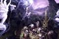 Картинка оружие, скалы, магия, арт, монстры, нападение, Lee Sung-jae