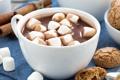 Картинка печенье, чашка, напиток, какао, маршмеллоу