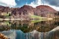 Картинка небо, озеро, отражение, Холмы