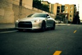Картинка город, металик, ниссан, R35, Nissan GT-R