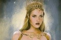 Картинка взгляд, фон, арт, фэнтази, королева