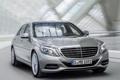 Картинка фары, Mercedes-Benz, решетка, мерс, Hybrid, передок, S 400