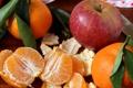 Картинка мандарины, фрукты, яблоко