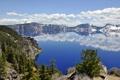 Картинка лес, горы, природа, озеро, Oregon, Crater Lake