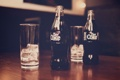 Картинка лед, стаканы, бутылки, напиток, газировка, coke