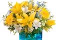 Картинка лилии, ромашки, букет, ваза