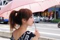 Картинка девушка, обои, серьги, зонт, азиатка