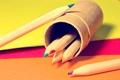 Картинка макро, краски, colors, карандаши, листки, macro, papers