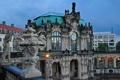 Картинка часы, дома, Германия, Дрезден, Цвингер