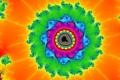 Картинка свет, узор, цвет, фрактал, симметрия