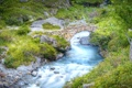 Картинка мост, природа, река, Франция, Альпы, Национальный парк Экрен