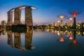 Картинка город, здания, небо, фото, свет, вода, вечер