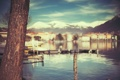 Картинка вода, макро, горы, город, дерево, текстура, лодки