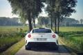 Картинка Природа, Поле, Авто, Дорога, Деревья, Машины, Ferrari