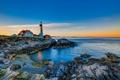 Картинка море, скалы, берег, маяк, Portland Head Lighthouse