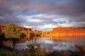Картинка небо, пейзаж, природа, озеро