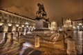 Картинка памятник, ночь, Пьяцца Сан Карло, огни, Турин, площадь, дома
