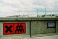 Картинка Sign, Red Mosaic, SpaceInvader, StreetArt