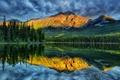 Картинка горы, озеро, Jasper, Alberta, Canada