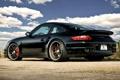 Картинка турбо, задняя часть, Turbo, Porsche, 997, порше, black