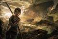 Картинка лук, девушка, Tomb Raider, корабль, лара