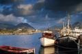 Картинка пристань, лодки, залив