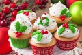 Картинка выпечка, кексы, новогодние, cupcakes