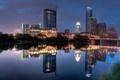 Картинка ночь, город, огни, озеро, отражение, Austin, Texas