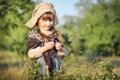 Картинка лето, цветы, природа, дети, девочка, косички