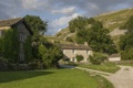 Картинка газон, England, North Yorkshire, здания, дорожки, деревня, Северный Йоркшир