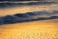 Картинка песок, море, волны, пена, вода, океан, пейзажи