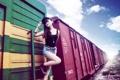 Картинка девушка, поезд, азиатка