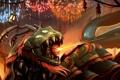 Картинка fire, snake, league of legends, kog maw