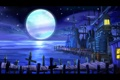 Картинка moon, sea, ocean, night, village, Monkey Island