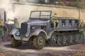 Картинка машина, война, кухня, солдаты, обед, немецкие, полугусеничном