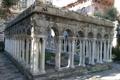 Картинка двор, Италия, развалины, колонны, руины, Генуя, дом Колумба