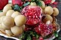 Картинка зерна, фрукты, сливы, гранат