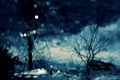 Картинка вода, деревья, природа, отражение, вечер