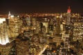 Картинка город, ночной город, new york, нью йорк, пецзаж