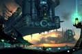 Картинка город, Будущее, корабли, небо